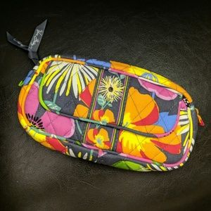 Vera Bradley Jazzy Blooms Mirror Cosmetic Bag